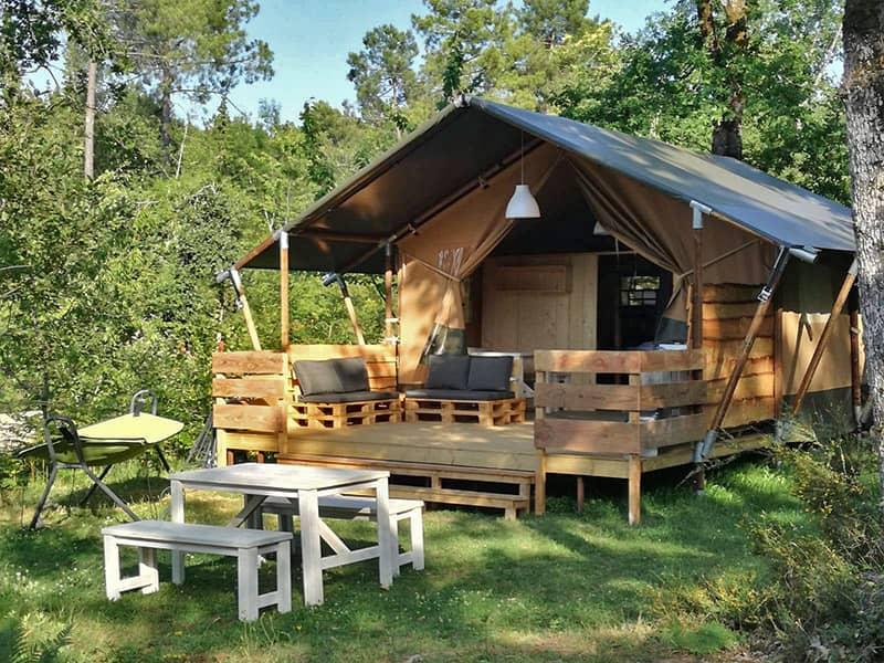 houten hut verhuur Frankrijk