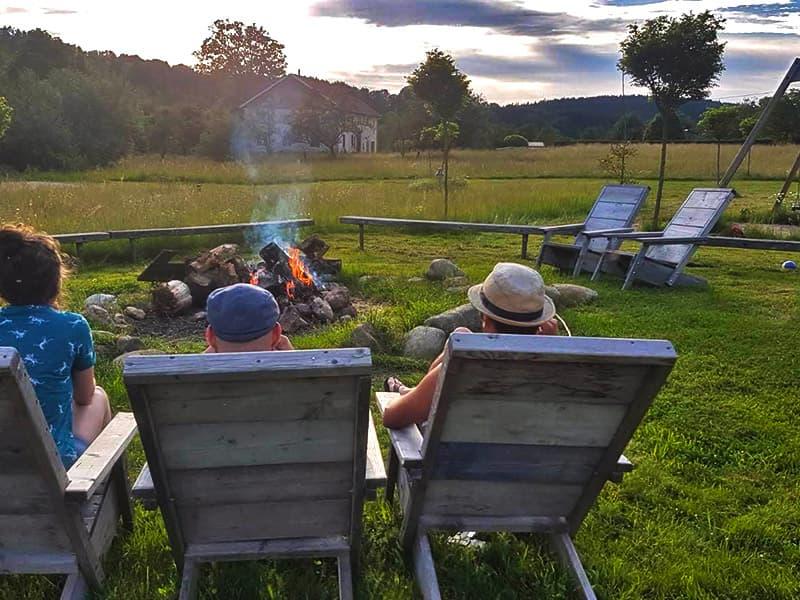 Kampvuur Camping Frankrijk
